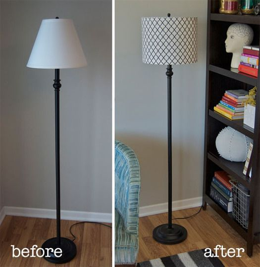 How To Turn A Tapered Lamp Shade Into A Drum Shade Diy Drum