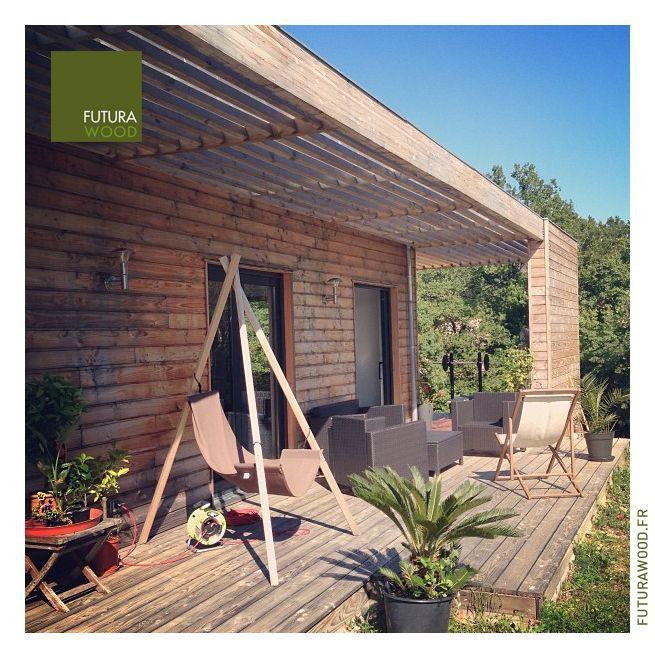 Maison Ossature Bois TYPE  T4 de plain pied SURFACE  110 m2 + - Maison Toit Plat Prix Au M