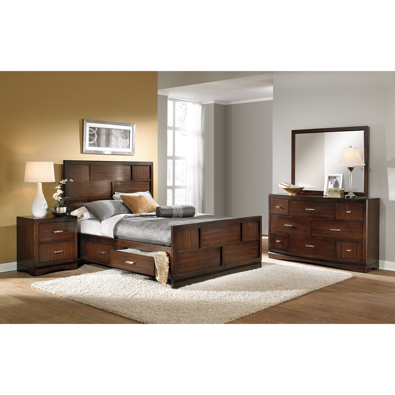 Toronto 6-Piece Storage Bedroom Set with Nightstand, Dresser ...