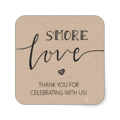 Photo of s'more Love Wedding favor tag Sticker Gift tag | Zazzle.com