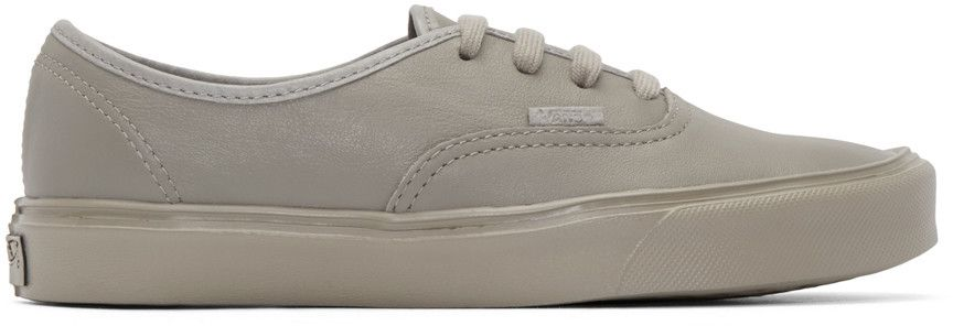 9aca4dfee2 Vans Taupe Authentic Lite LX Sneakers Part of the Vault by Vans collection.