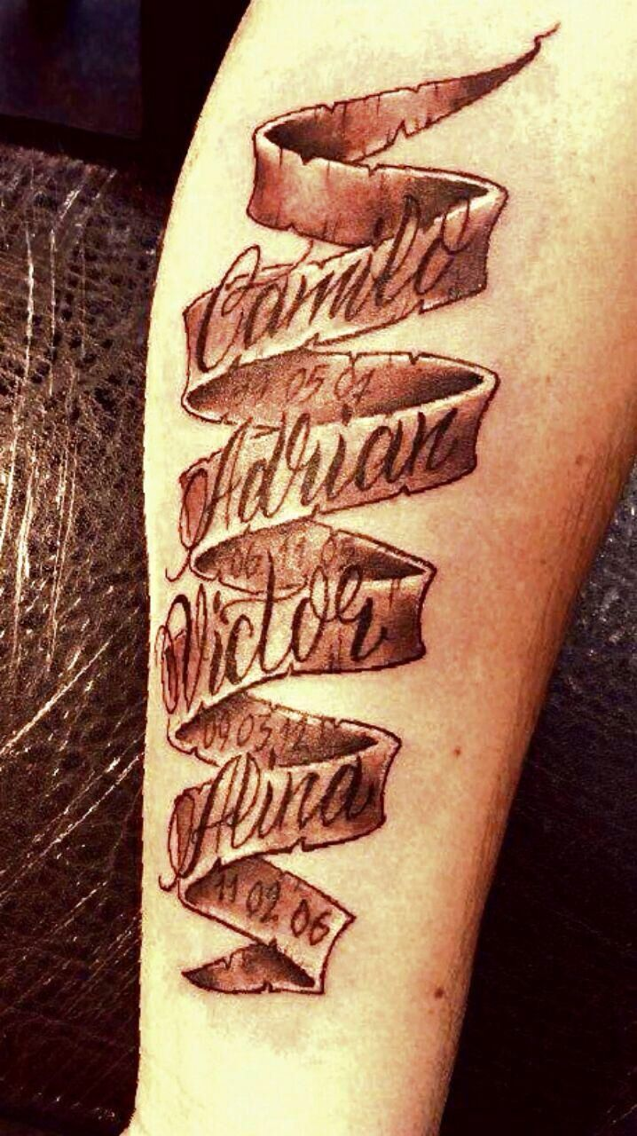 Pin by Edward on Left leg Lower Names tattoos