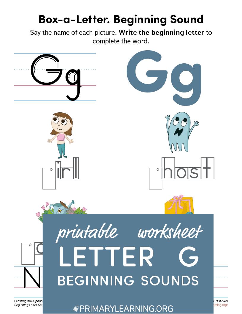Letter G Phonics Worksheet Primarylearning Org In 2021 Phonics Worksheets Phonics G Letter Words [ 1056 x 816 Pixel ]
