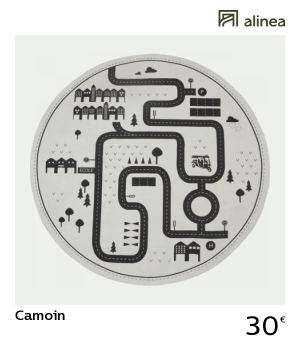 Alinea Decoration Camoin Tapis Rond Pour Enfant D120cm Motif Circuit Tapis Rond Tapis A Motifs Tapis