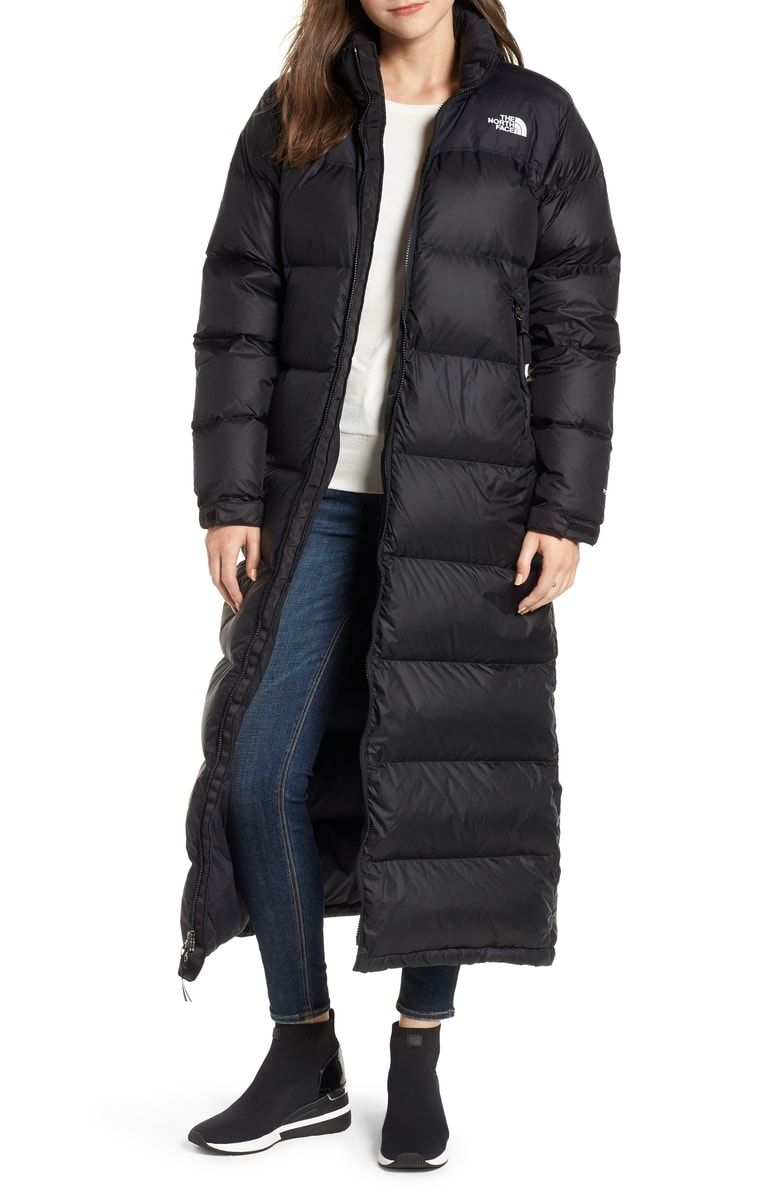 The North Face Nuptse Long Water Repellent Down Coat Nordstrom Long North Face Jacket North Face Puffer Jacket Down Coat [ 1196 x 780 Pixel ]
