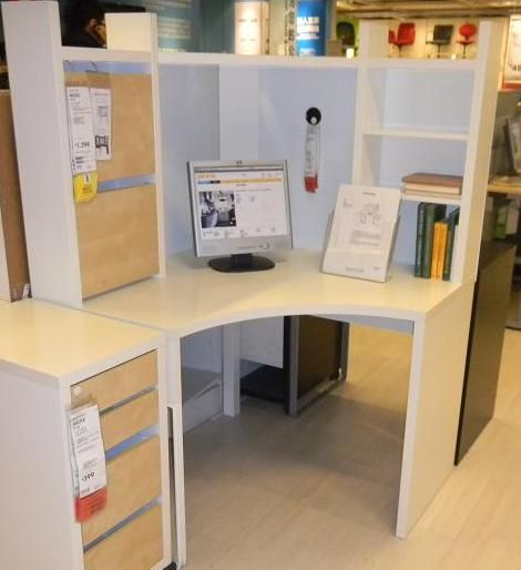Astounding Corner Desks Ikea Image With Age Study Room Decor