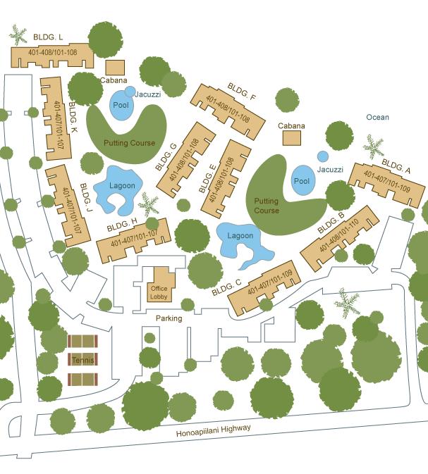 Papakea Resort Map Papakea Resort sitemap | Condo Site Plans & Floor Plans in 2019