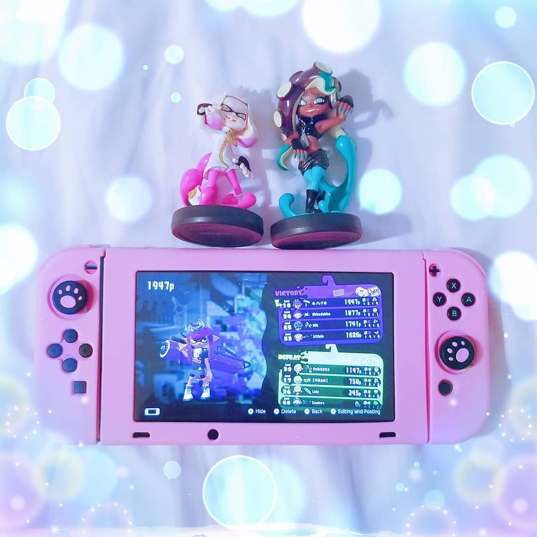 Don T Get Cooked Stay Off The Hook How Cute Are These Amiibo Thoi Love Pearl And Marina Video Game Room Design Nintendo Switch Case Nintendo Switch Accessories