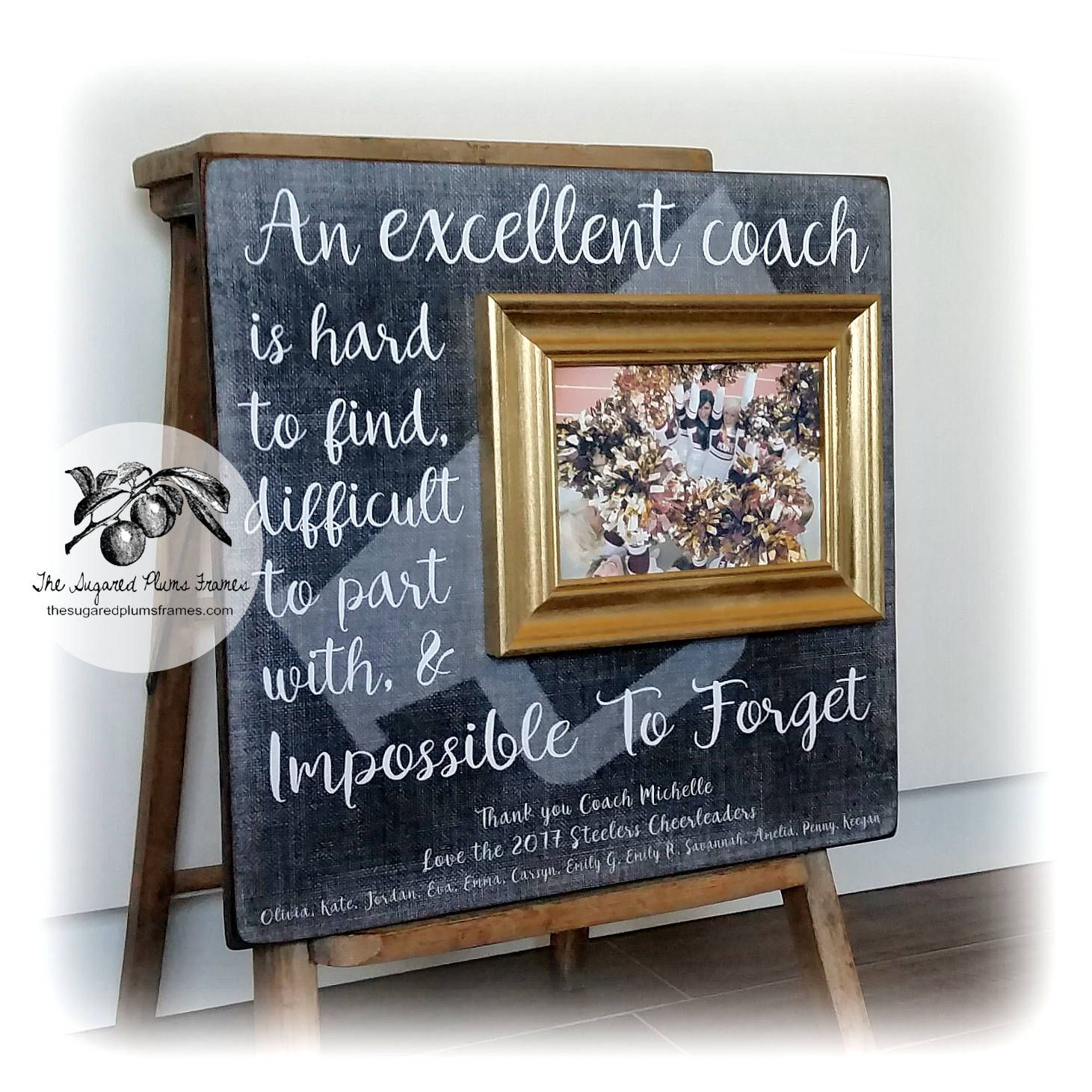 Personalized Cheer Coach Gift Picture Frame Dance Team Etsy Cheer Coach Gifts Cheer Coaches Dance Coach