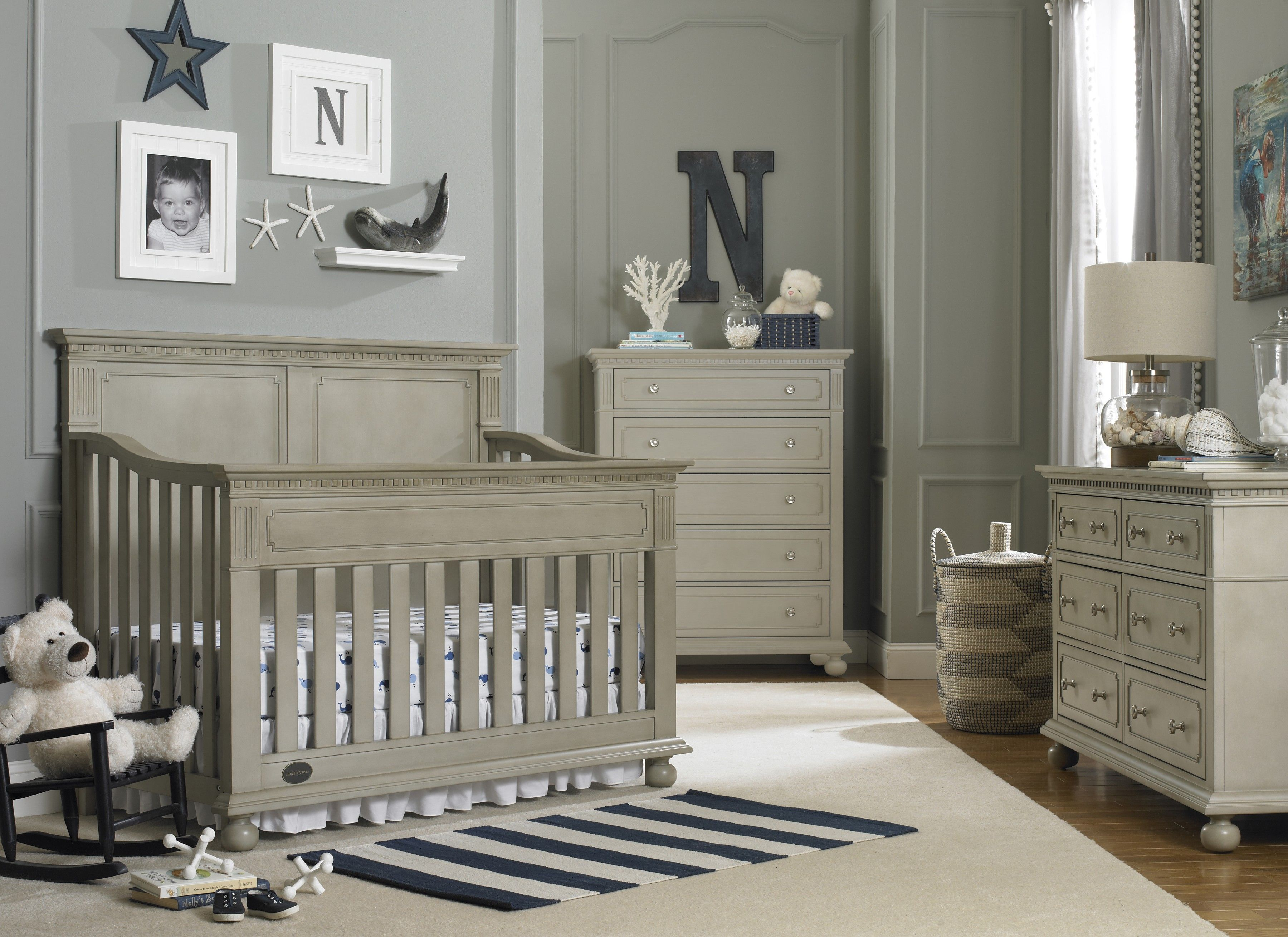 Grey and white baby room ideas - Amazing Vintage Baby Boy Nursery Ideas And Remodelling Gallery Design Ideas