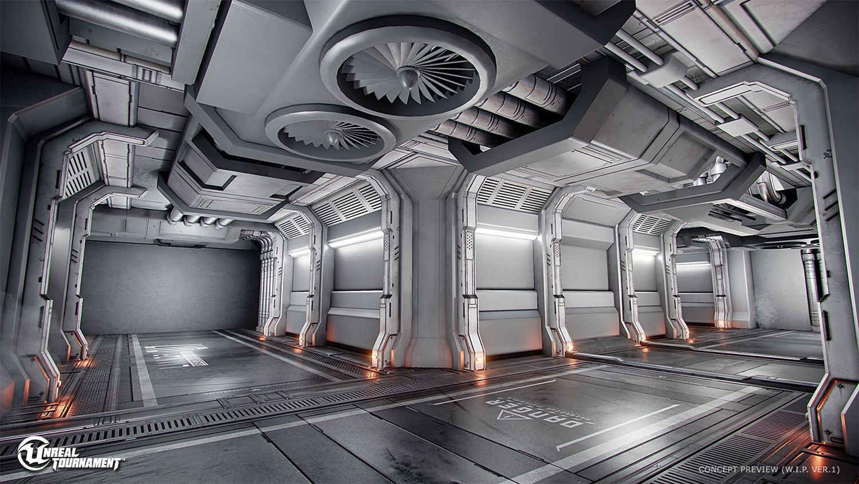 Concept Art Sci Fi Theme 宇宙船インテリア 未来派