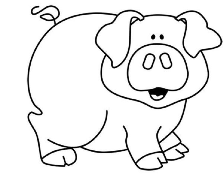 Pig Coloring Pages Free Printable Check More At Http Coloringareas Com 6370 Pig Coloring Pages Farm Animal Coloring Pages Animal Coloring Pages Animal Quilts
