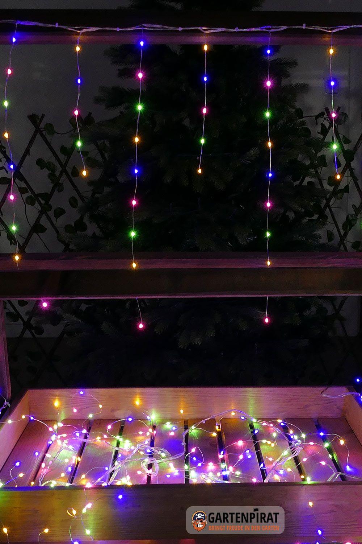 Eisregen 6m 450 Micro Led Draht Lichterkette Bunt Weihnachten Aussen Led Lichterkette Lichterkette Weihnachtslichter