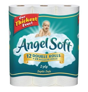 picture regarding Angel Soft Printable Coupon named Angel Comfortable Tub Tissue, Just $3.99 at Concentration! Discount codes