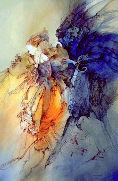 Beauty and the Beast ~ illustration by Anne Bachelier
