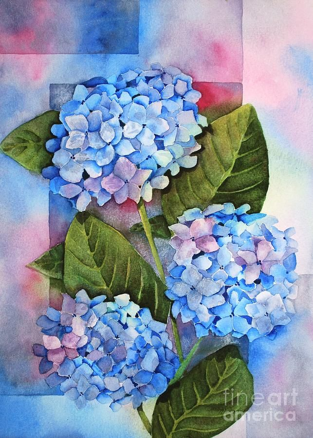 Hydrangeas Painting Art Canvas In 2019 Hydrangea Painting