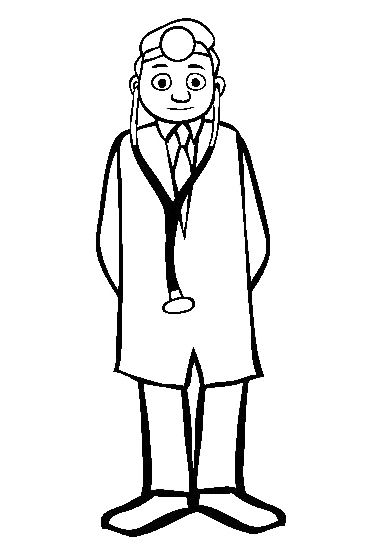 Doctor Coloring Sheets | Kids Coloring Pages | Pinterest