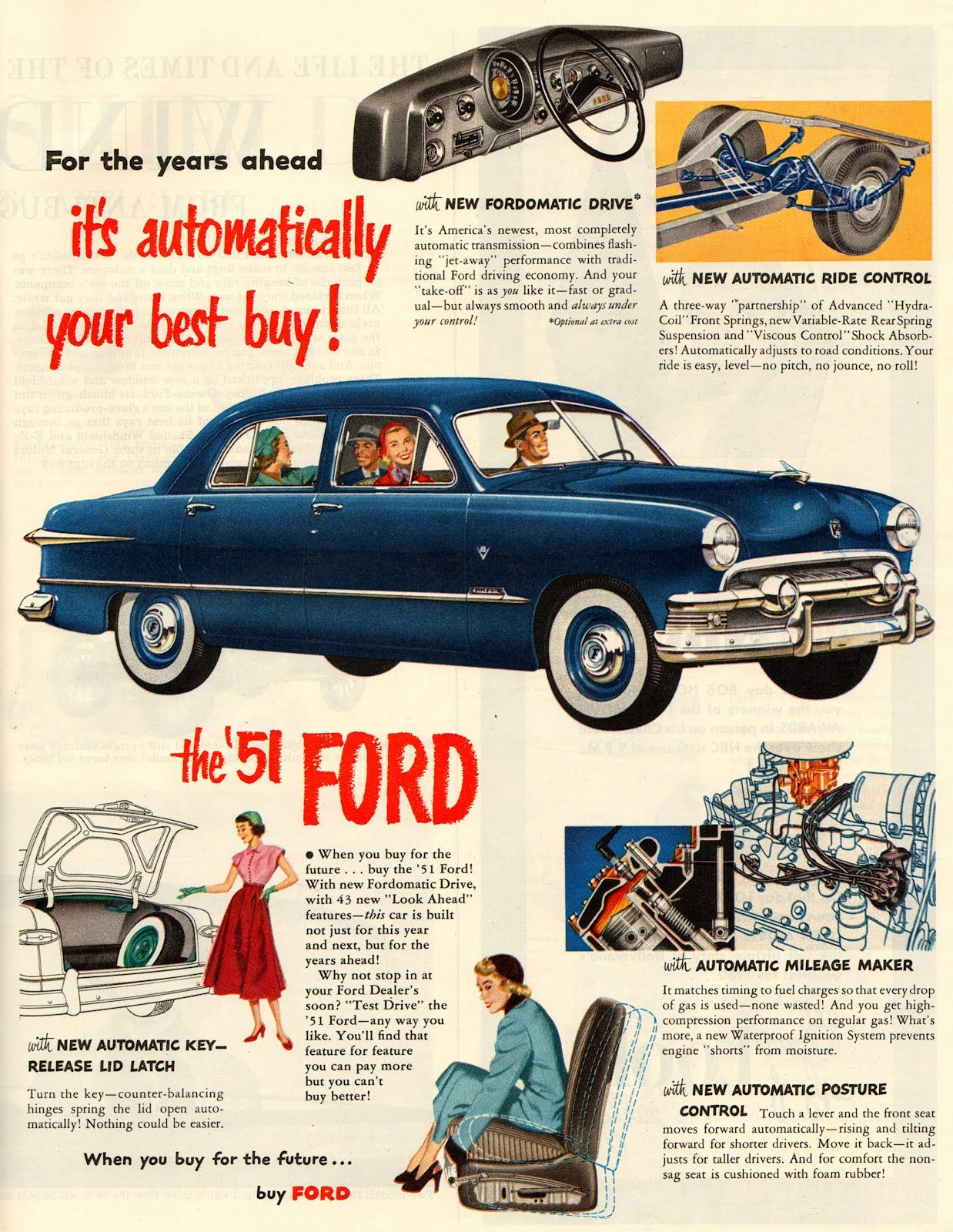 Ford Ad, 1951 #vintage LOVE my Daddy\'s 51 Ford! | WHEELS ...