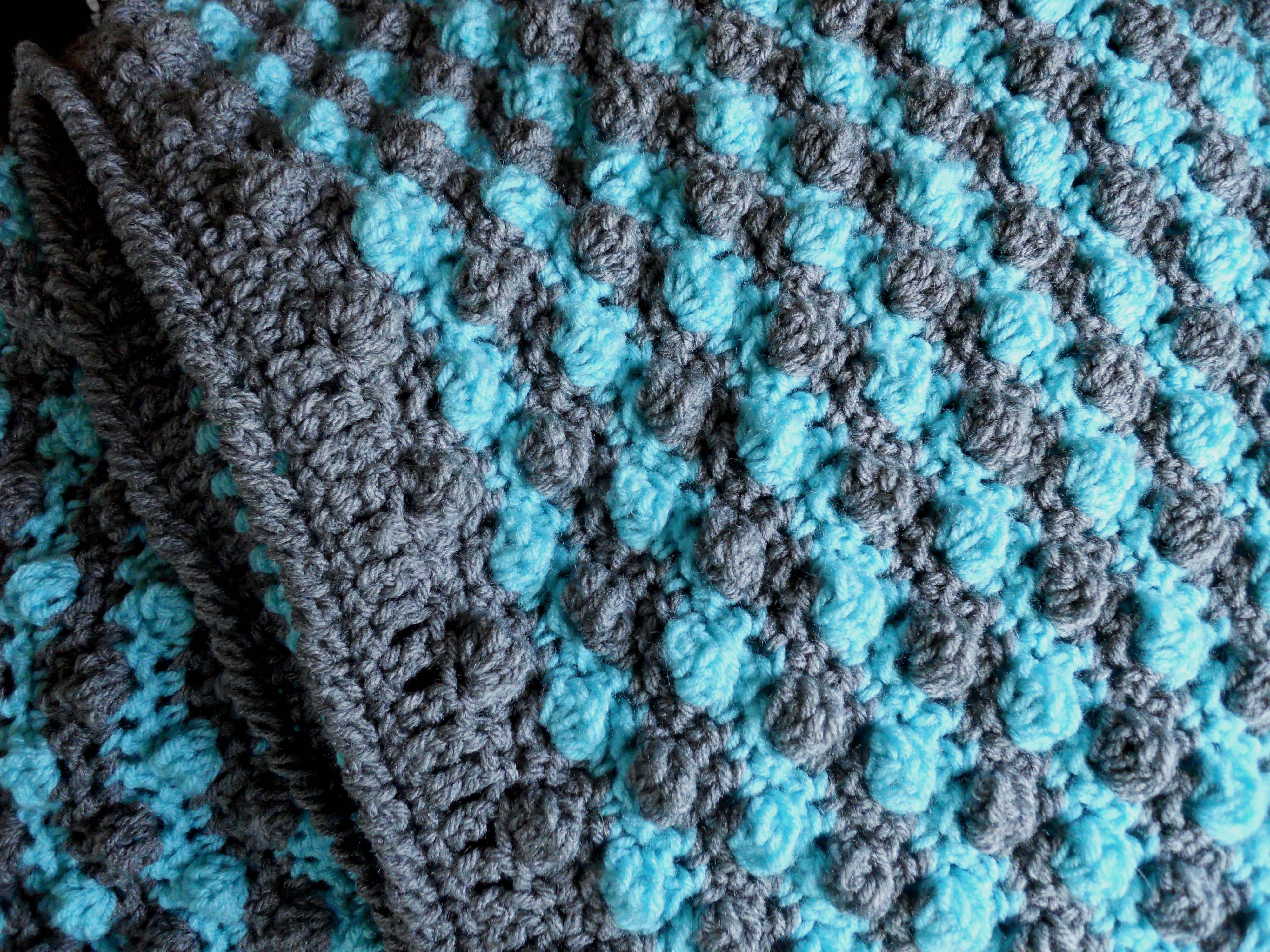 No Pattern Bobble Stitch Crochet Blanket Note From Designer I