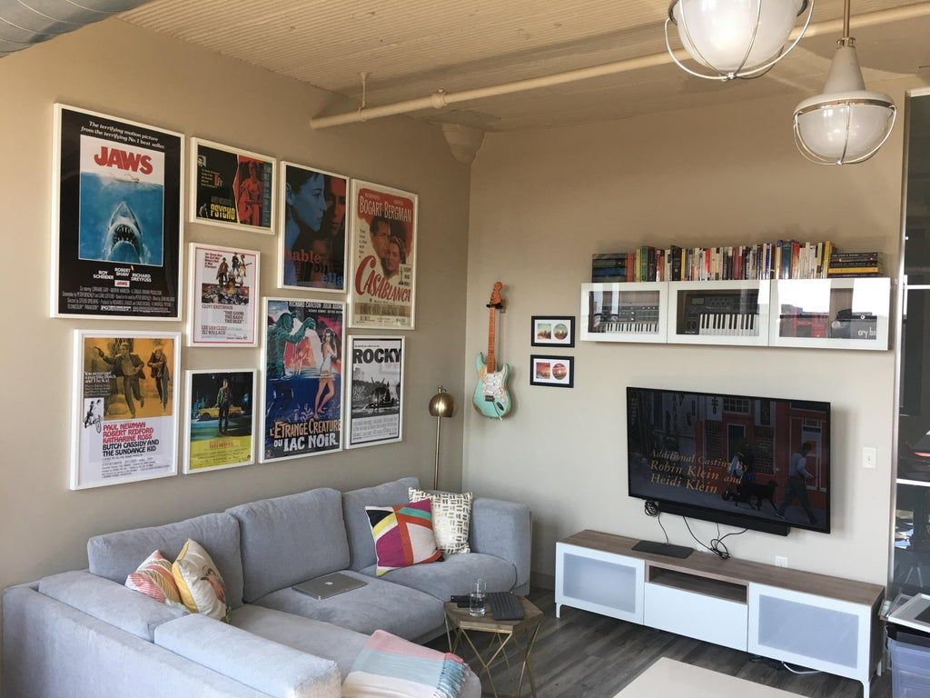 Finished Out Living Room Complete With Movie Poster Gallery
