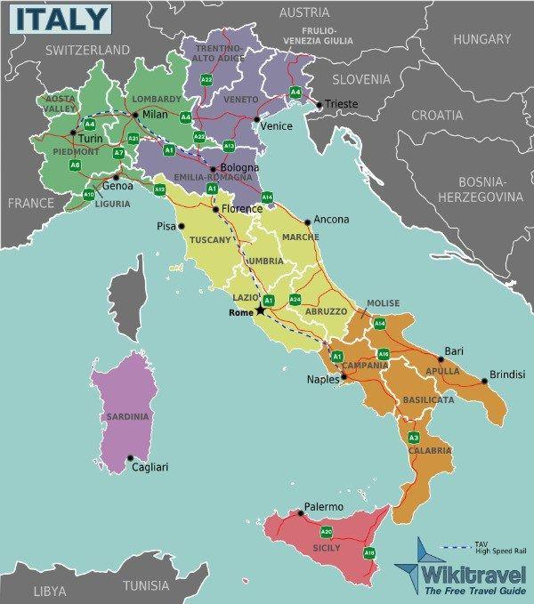 Italya Nin Bolgeleri Italya Nin Cografi Bolgeleri Italya Bolgeler Haritasi Italya Nin Ozerk Bolgeleri Italya Sehirleri Italya B Italya Seyahati Italya Italia