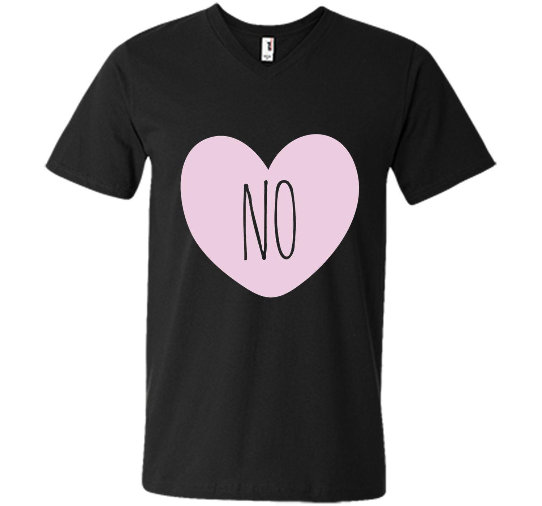 No shirt funny heart shape anti valentine's day t-shirt
