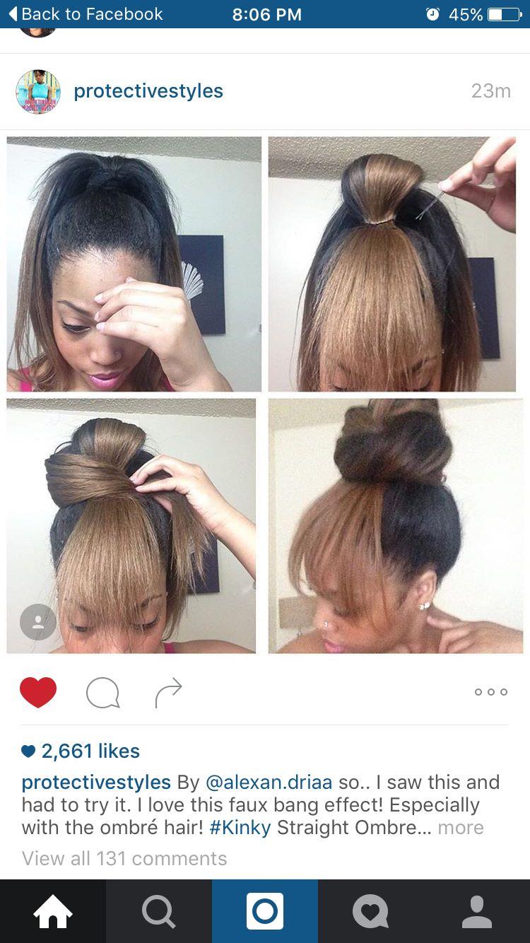 Faux bangs | Hair | Pinterest | Faux bangs, Bangs and Hair style