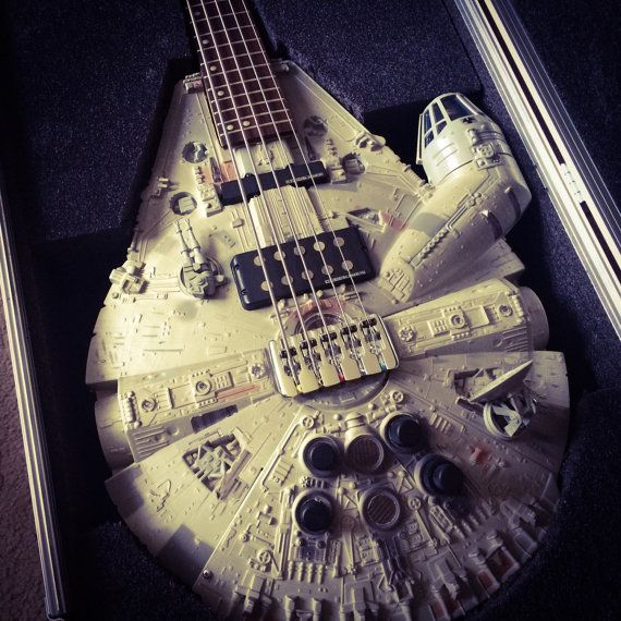 Rebel Bass Guitar  Millennium Falcon  Star Wars  3 by DoniGuitars Words can't begin to describe.