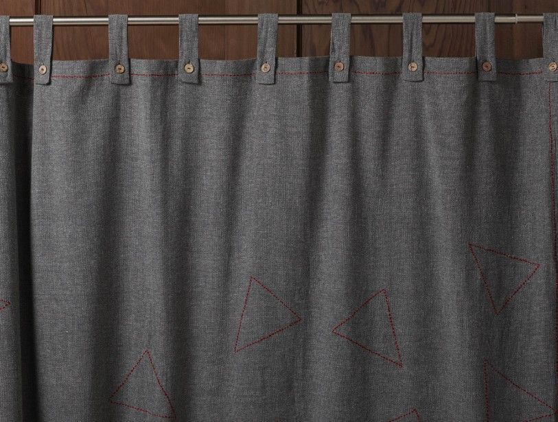 Embroidered Pebbled Shower Curtain Curtains Organic Shower Red