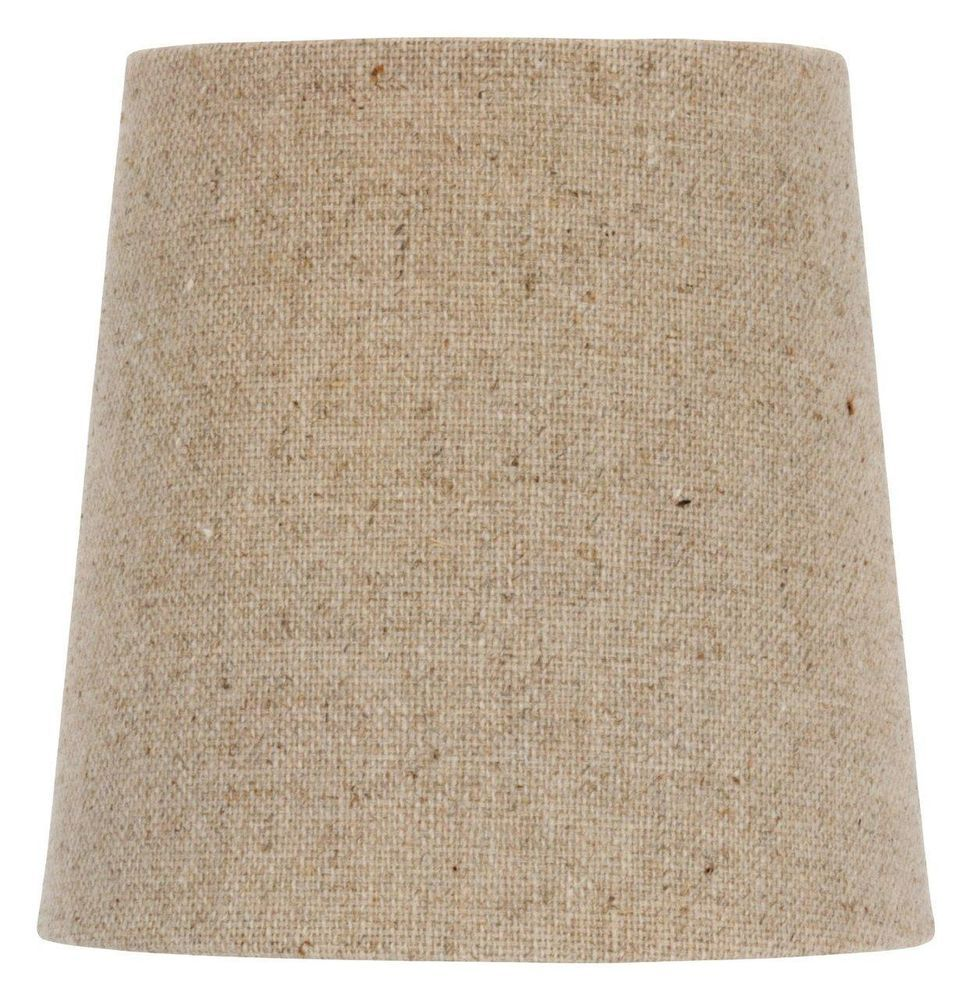 Upgradelights chandelier lamp shade clip on shade 4 inch beige linen upgradelights chandelier lamp shade clip on shade 4 inch beige linen retro drum upgradelights arubaitofo Choice Image