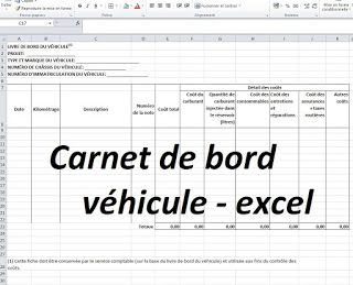 carnet carnet de bord v hicule excel cours de genie civil pinterest carnets bord et vehicule. Black Bedroom Furniture Sets. Home Design Ideas