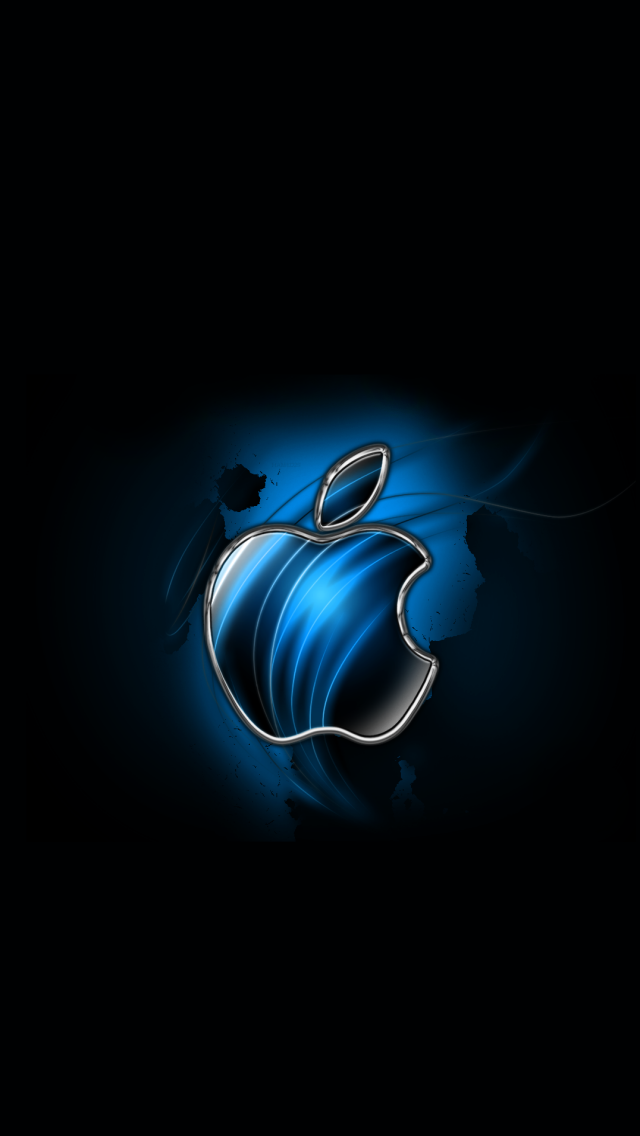 Extrêmement Download Swirly Apple-Blue 640 x 1136 Wallpapers - 4600943 - Blue  VB31
