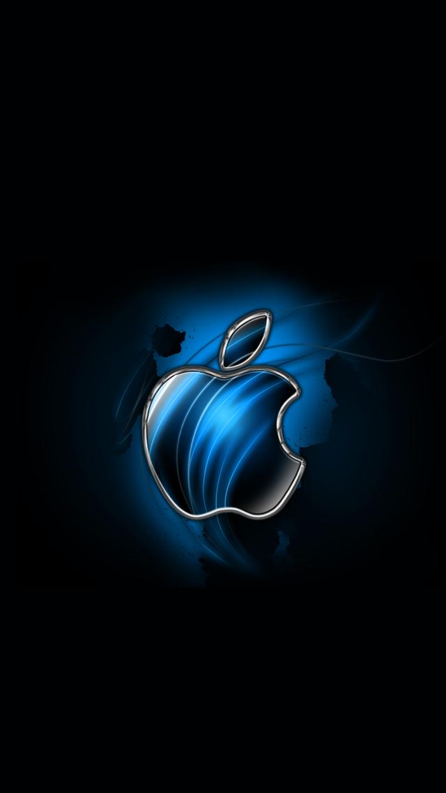 Download swirly apple blue 640 x 1136 wallpapers 4600943 blue apple logo swirly mobile9 - Apple icon x ...