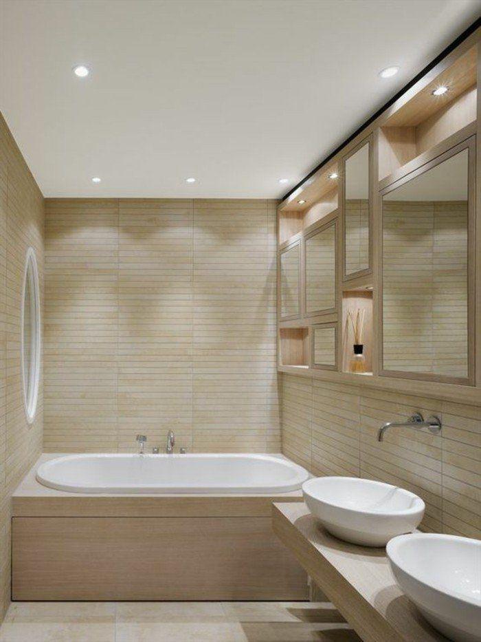 quelle couleur salle de bain choisir 52 astuces en photos salle de bains taupe baignoire. Black Bedroom Furniture Sets. Home Design Ideas