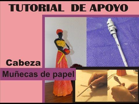 TUTORIAL DE APOYO - Cabeza muñecas africanas - YouTube