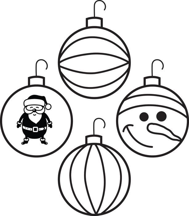 ornament coloring page images Google Search Coloring Christmas