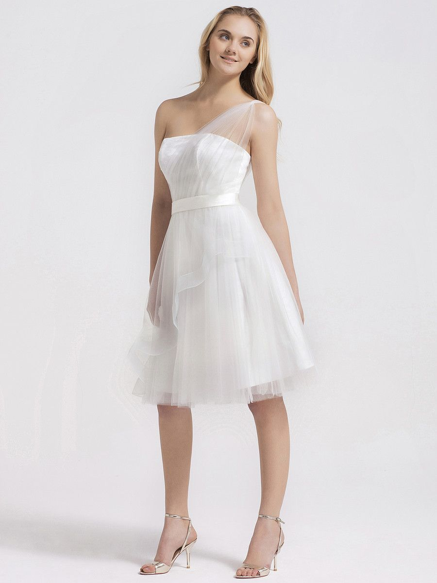 Little white wedding dress  Tulle Over Lace Flutter Skirt Little White Dress  Weddings