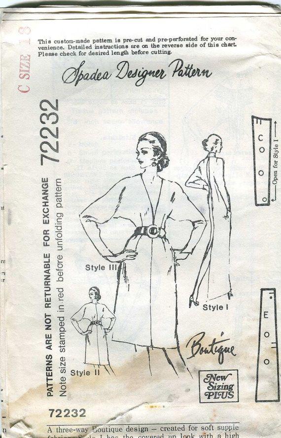 Spadea Designer Pattern 72232 Vintage 70s Mail Order by bellaloona, $8.00