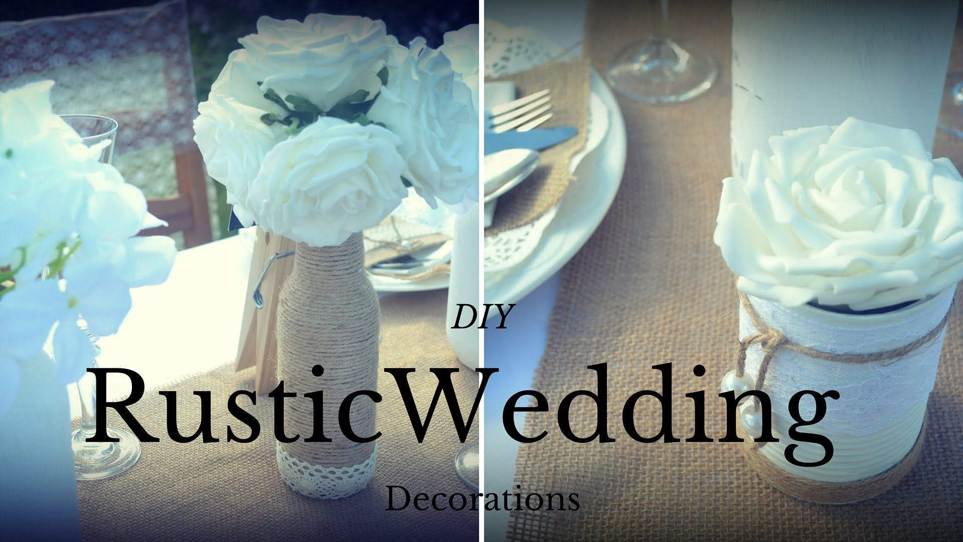 Diy decorations for wedding  Wedding Rustic Decorations DIY wedding centrepieces Recycled Craft