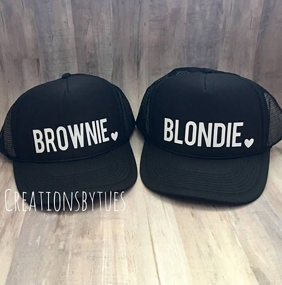 4c4c9316 Blondie Brownie, Blondie Brownie hats, Best Friend Hats, Blondie Brownie Trucker  Hats, Womens Hat, C