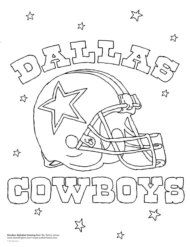 Dallas Cowboys coloring page | Baby Jase\'s Dallas Cowboys Nursery ...