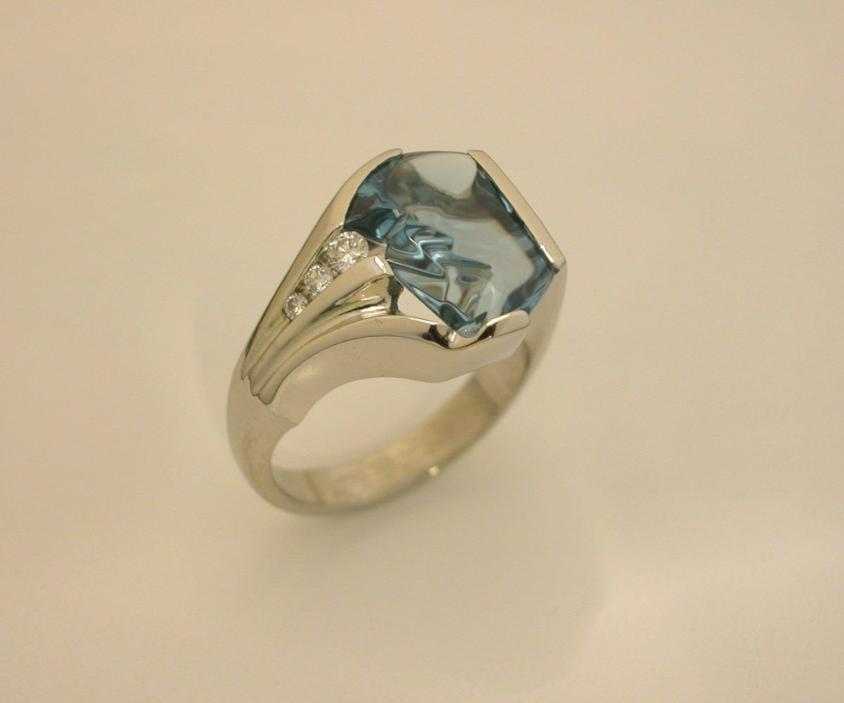 Pave Fine Jewelry Home - Custom Design Gallery - Colored Stone Rings