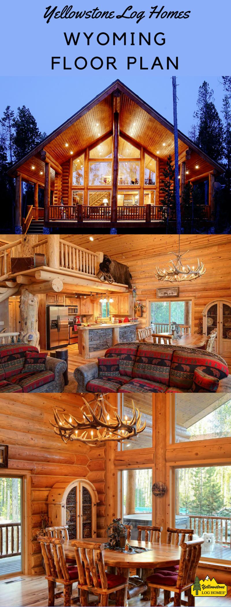 Inside the Wyoming Floor Plan in 2020 Log homes, Log