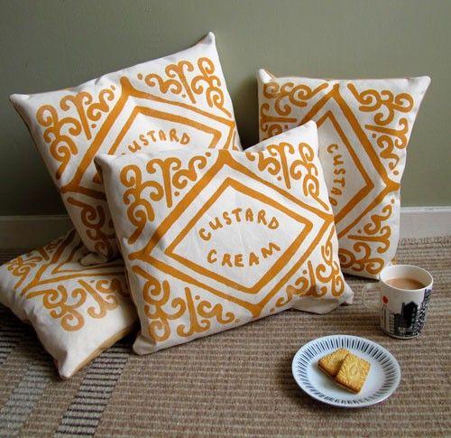Yummy throw pillows.