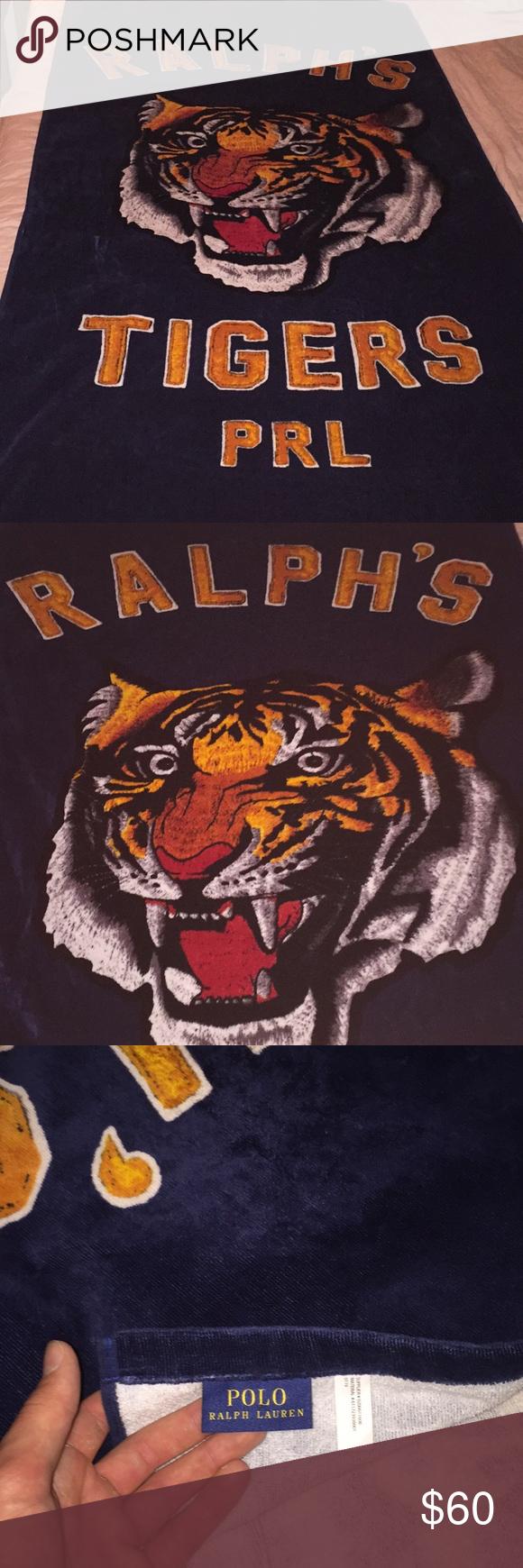 Polo Ralph Lauren Ralph Ltd Ed Tiger Beach Towel Hot