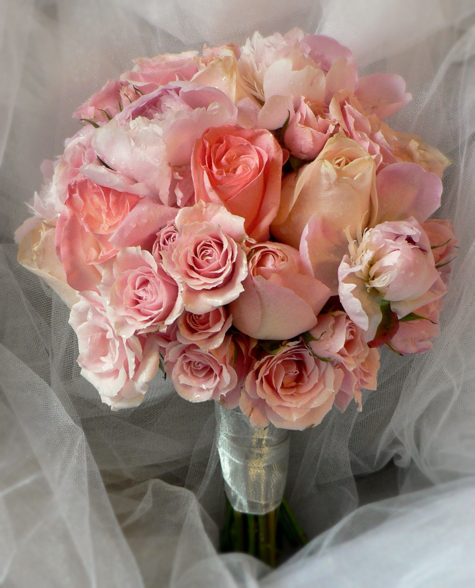 Mixed Roses, Spray Roses & Peony Bouquet | Roses - Bouquets | Pinterest