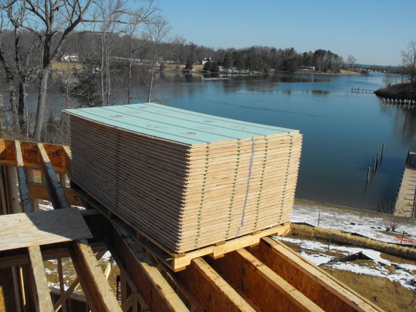 Fabulous views of the water surround this job site where