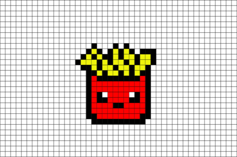 French Fries Pixel Art Brik Pixel Art Designs Dessin