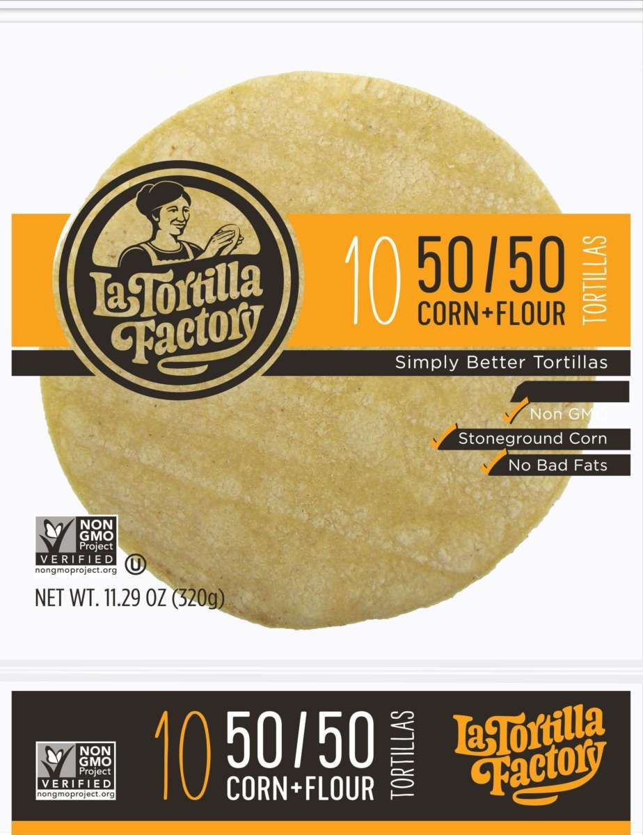 Half Corn Half Flour Tortilla Tortilla Factory Yellow Corn La Tortilla Factory