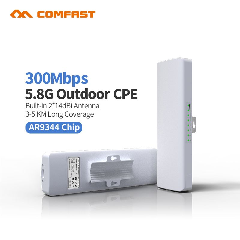 Comfast Cf E312a Ar9344 Outdoor Cpe 5 8g Wireless Router 300m Wifi Access Point Router Wi Fi Repeater Signa Ampl Wifi Router Wireless Ip Camera Wireless Router